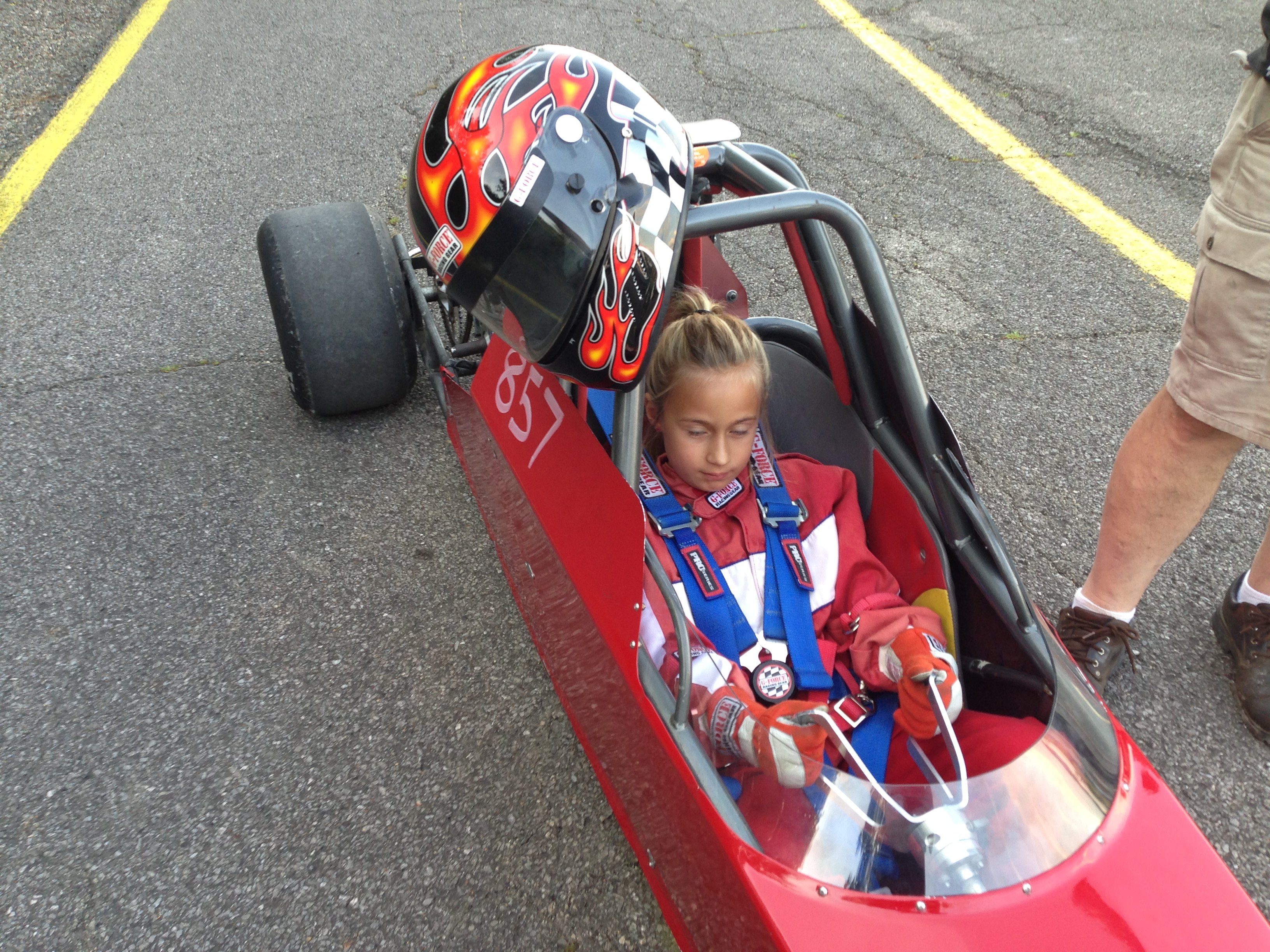 Cadence's First 1/8 Mile pass at Dragway 42.